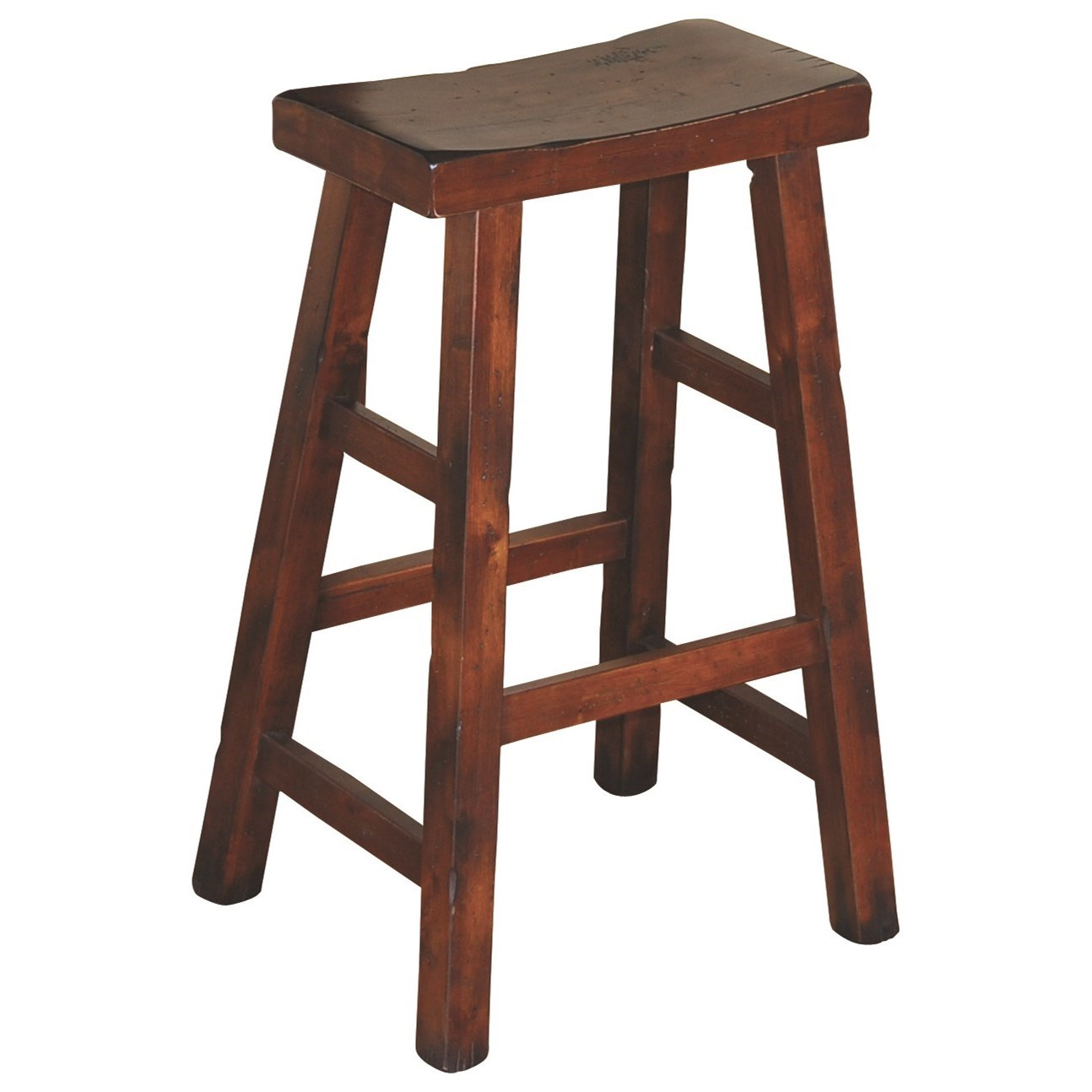 "1768 30""H Saddle Seat Stool, Wood Seat by Sunny Designs at Wilson's Furniture"