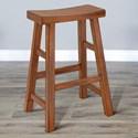 "Sunny Designs 1768 30""H Saddle Seat Stool, Wood Seat - Item Number: 1768RO2-30"