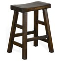"Sunny Designs 1768 24""H Saddle Seat Stool, Wood Seat - Item Number: 1768TL-24"