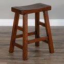 "Sunny Designs 1768 24""H Saddle Seat Stool, Wood Seat - Item Number: 1768VM-24"