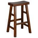 "Sunny Designs 1768 30""H Saddle Seat Stool, Wood Seat - Item Number: 1768VM-30"