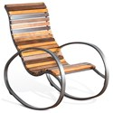Sunny Designs 2015 Metal Rocker with Wood Seat and Back - Item Number: 2015EU