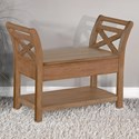 Sunny Designs 2075 Accent Bench with Storage - Item Number: 2075BU
