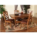 Morris Home Furnishings From Morris Home Furnishings - Belfast 5 Piece Dining Set - Item Number: 1151RO-T/B/1415RO(4)