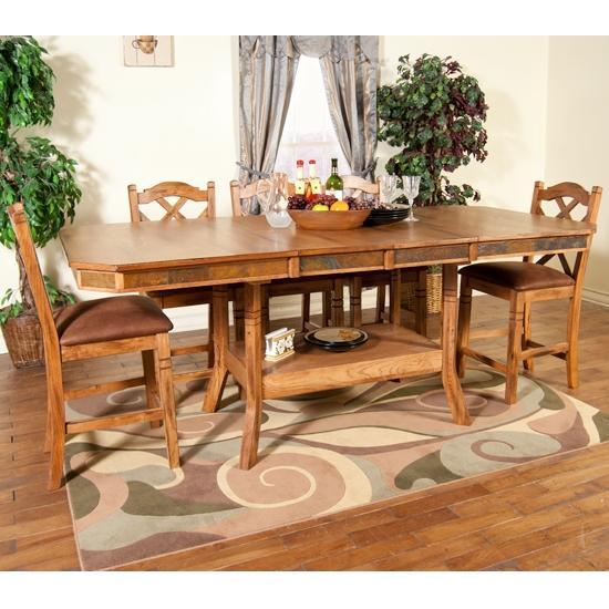 Morris Home Furnishings From Morris Home Furnishings - Belfast 5 Piece Pub Dining Set - Item Number: 1151RO-T/B/1848RO(4)