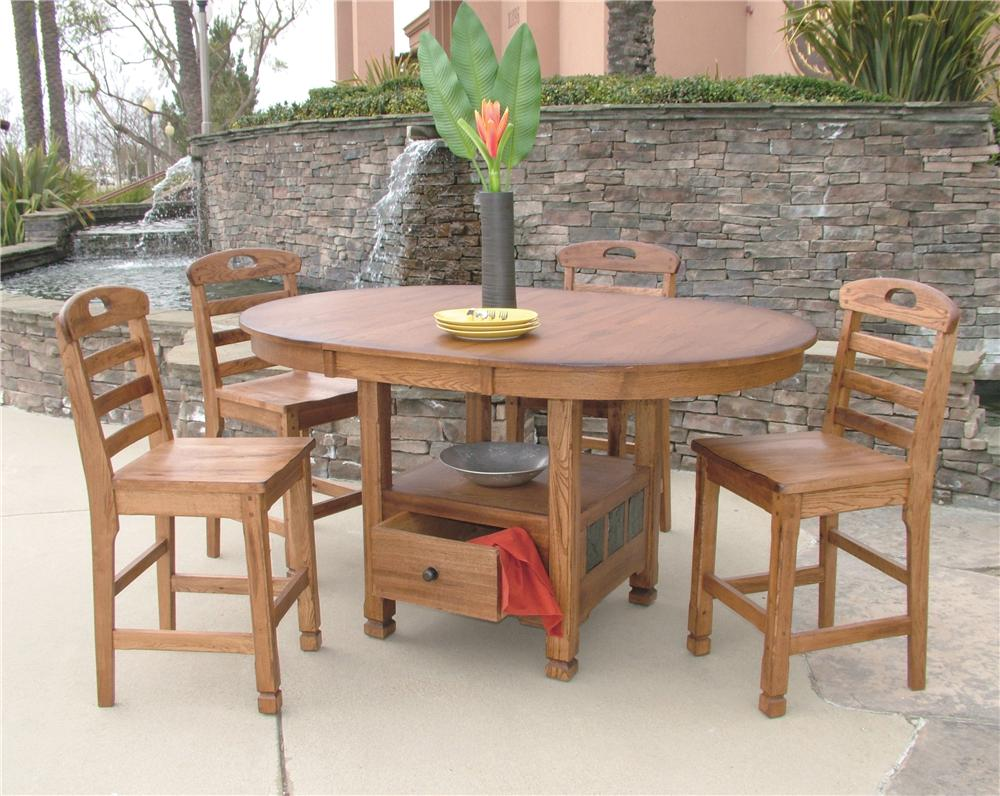 Morris Home Furnishings From Morris Home Furnishings - New Castle 5-Piece Dining Set - Item Number: 1247RO-T/B/1820RO(4)