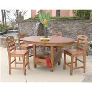 Morris Home Furnishings From Morris Home Furnishings - New Castle 5-Piece Dining Set