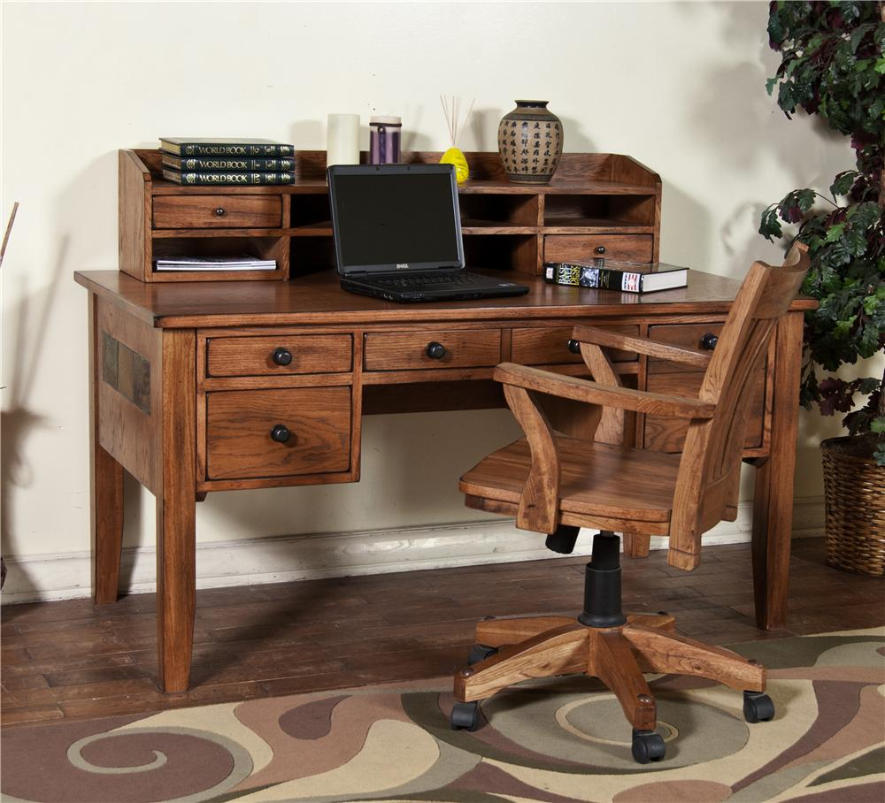Market Square Morris Home Waco Writing Desk & Hutch - Item Number: 2962RO-D/H
