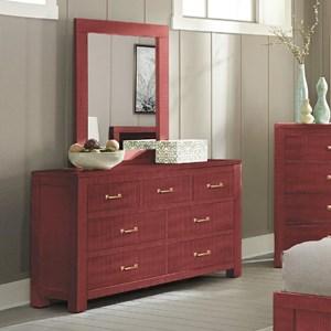 Sunny Designs 2319 Dresser and Mirror Set