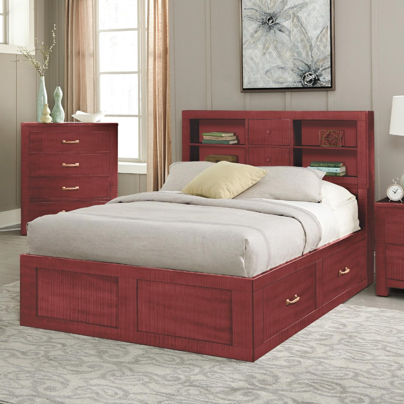 2319 Twin Captain's Bookcase Storage Bed by Sunny Designs at Sparks HomeStore
