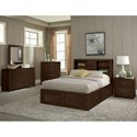 Sunny Designs 2319 Rustic Full Captain's Bookcase Storage Bed with Oversized Drawers - Image Shown May Not Represent Bed Size Indicated
