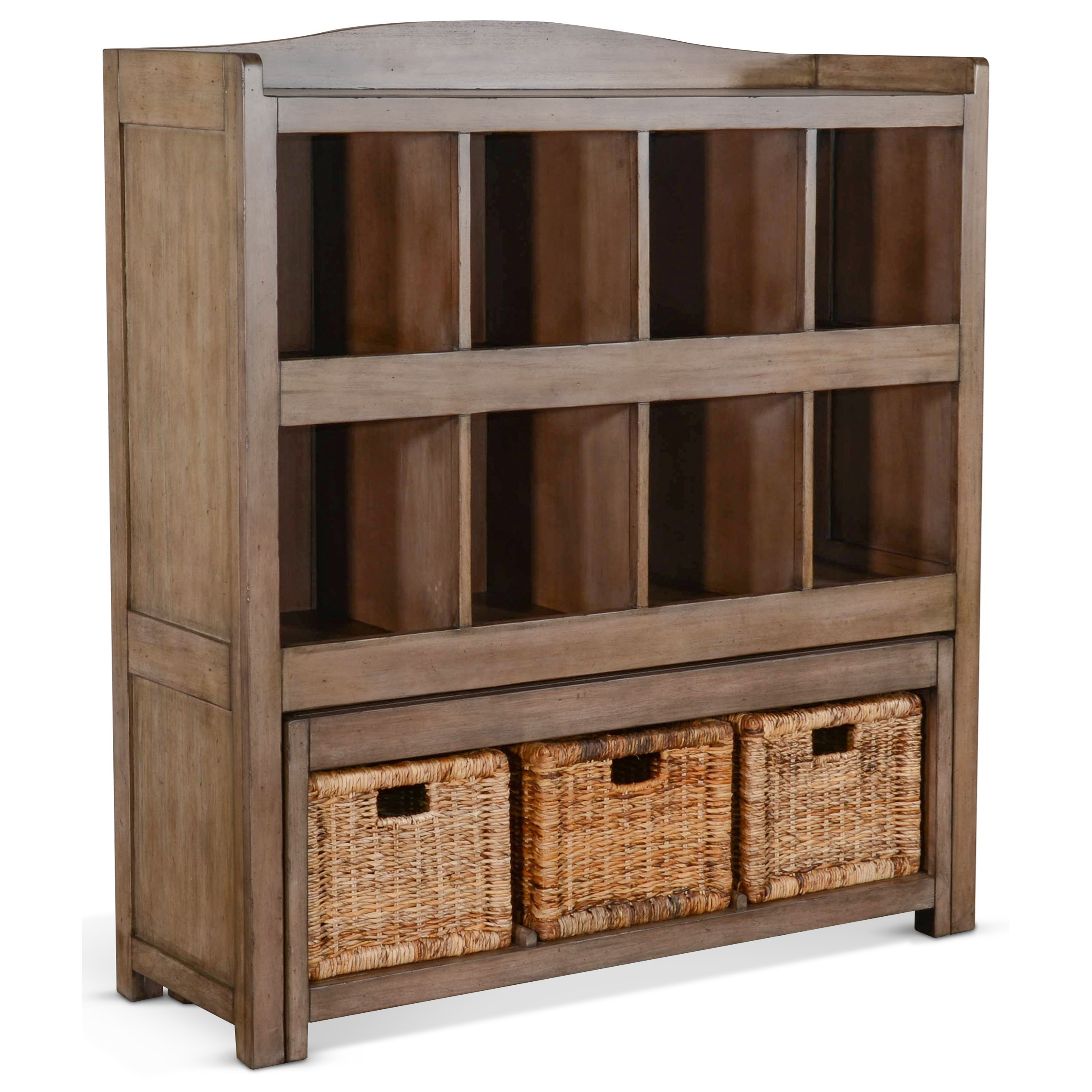 2993 Storage Bookcase w/ Trundle Bench by Sunny Designs at Fashion Furniture