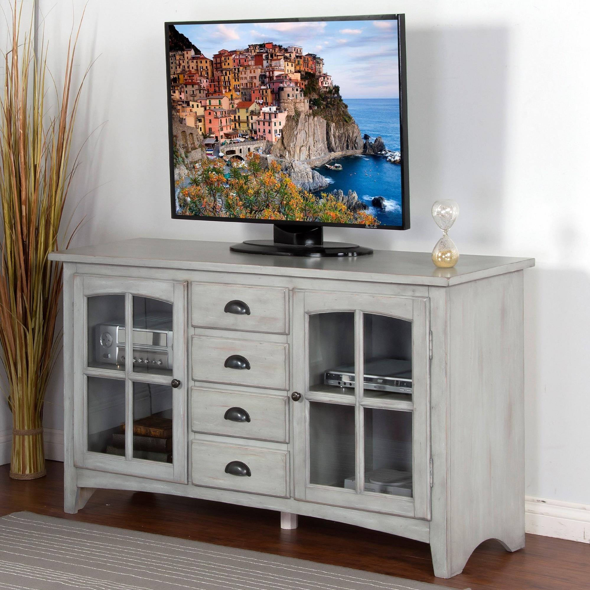 "Sunny Designs Elements 64"" TV Console - Item Number: 3562GY-64"