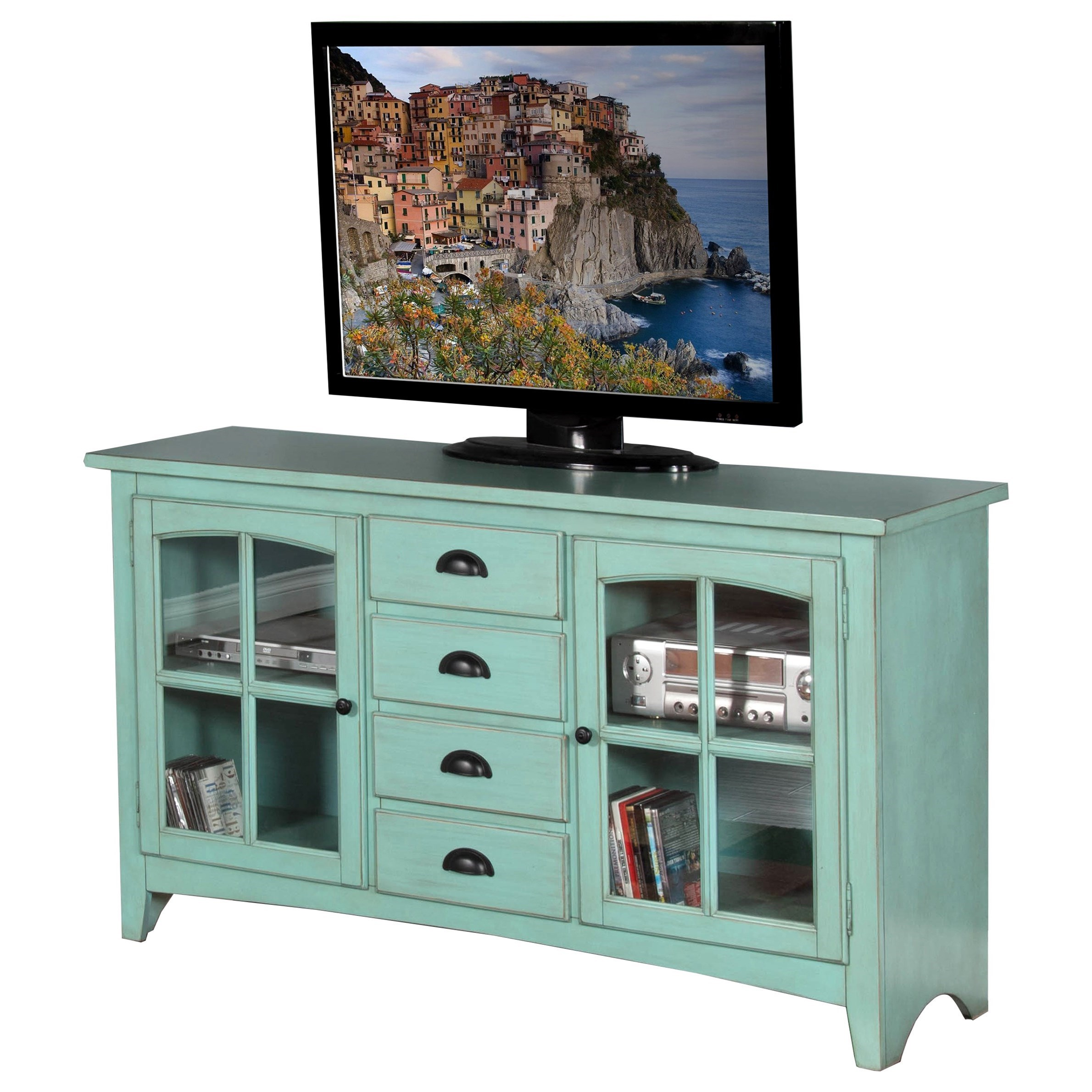 """Sunny Designs Elements 64"""" TV Console - Item Number: 3562RE-64"""