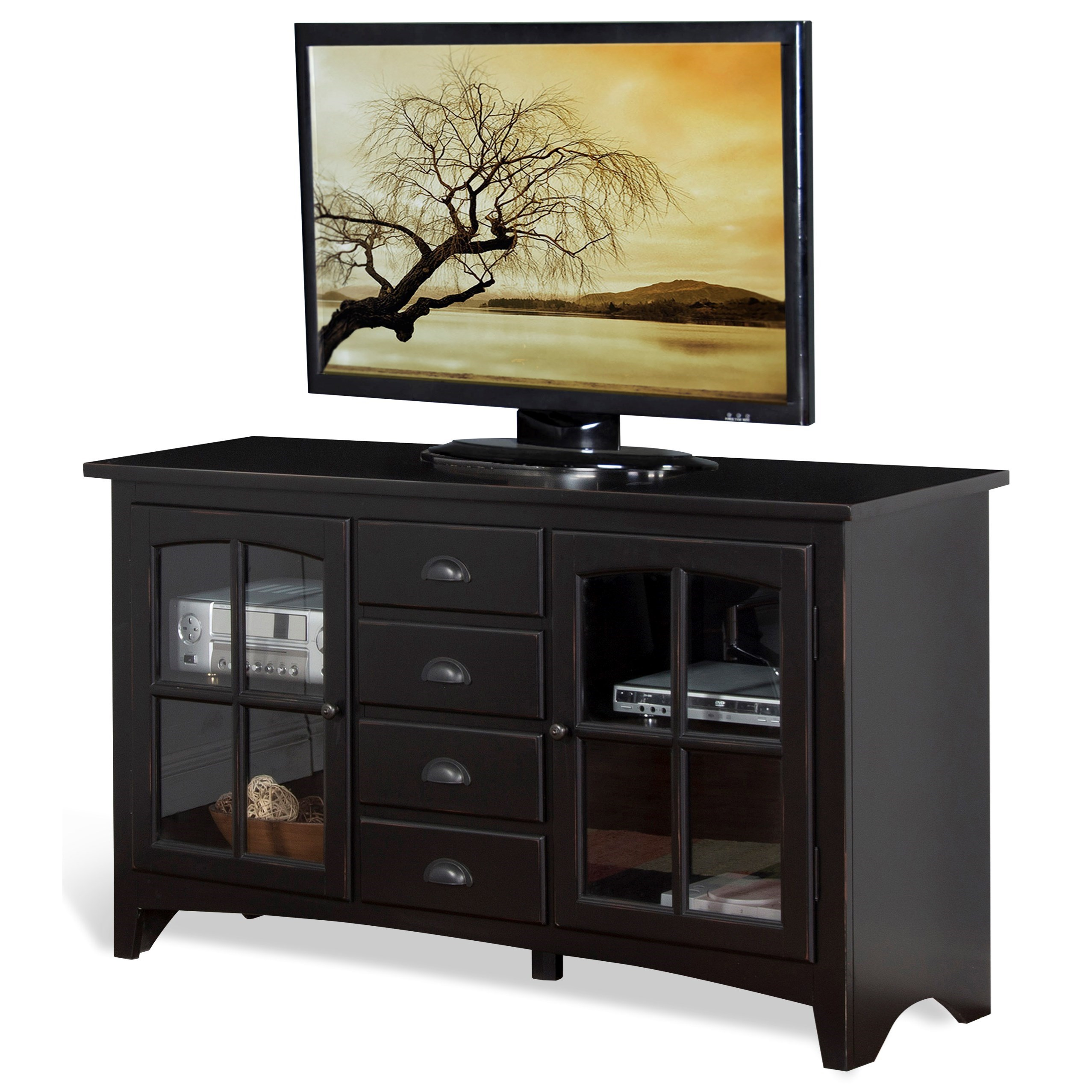 """Sunny Designs Elements 64"""" TV Console - Item Number: 3562VB-64"""