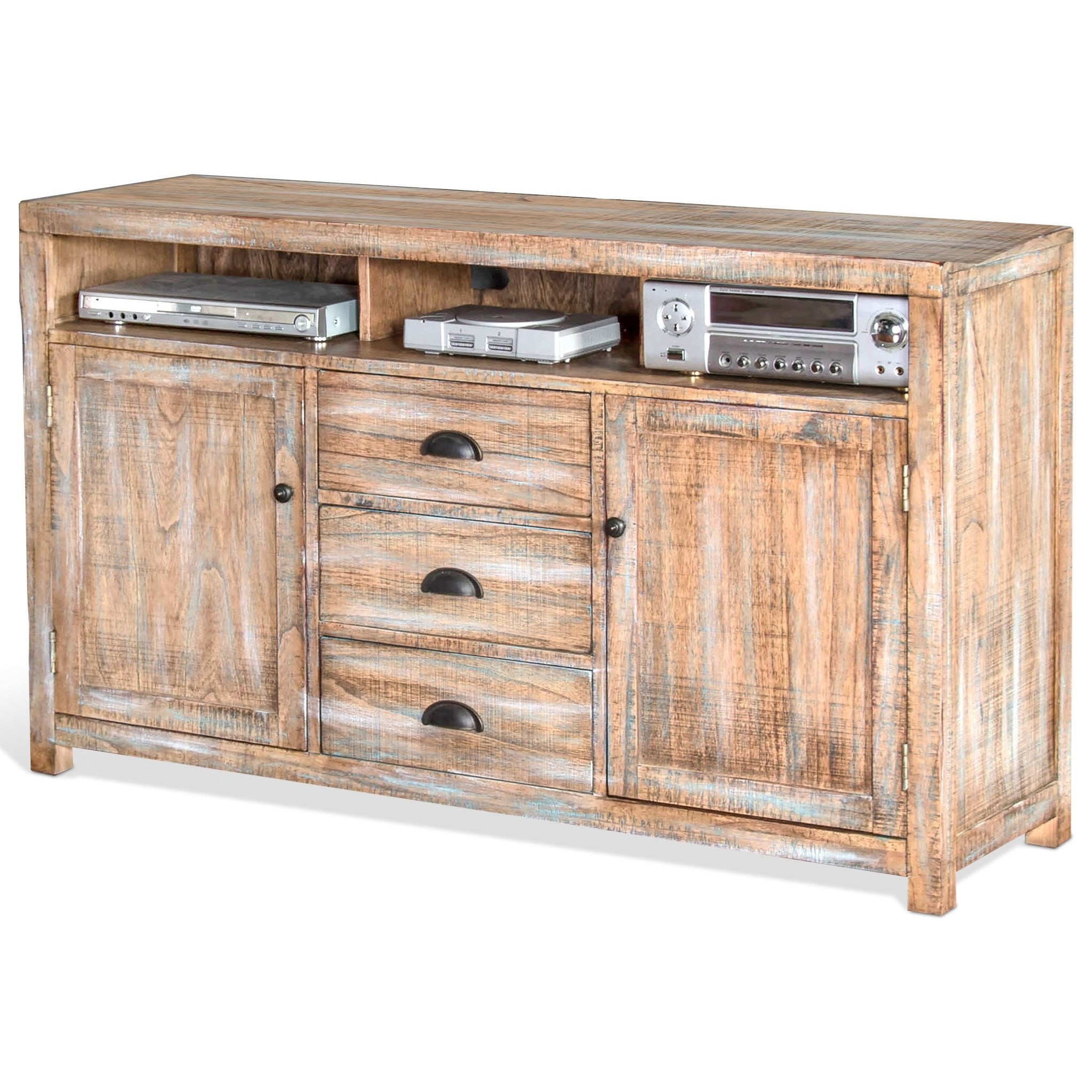 "3563 60"" TV Console by Sunny Designs at Factory Direct Furniture"