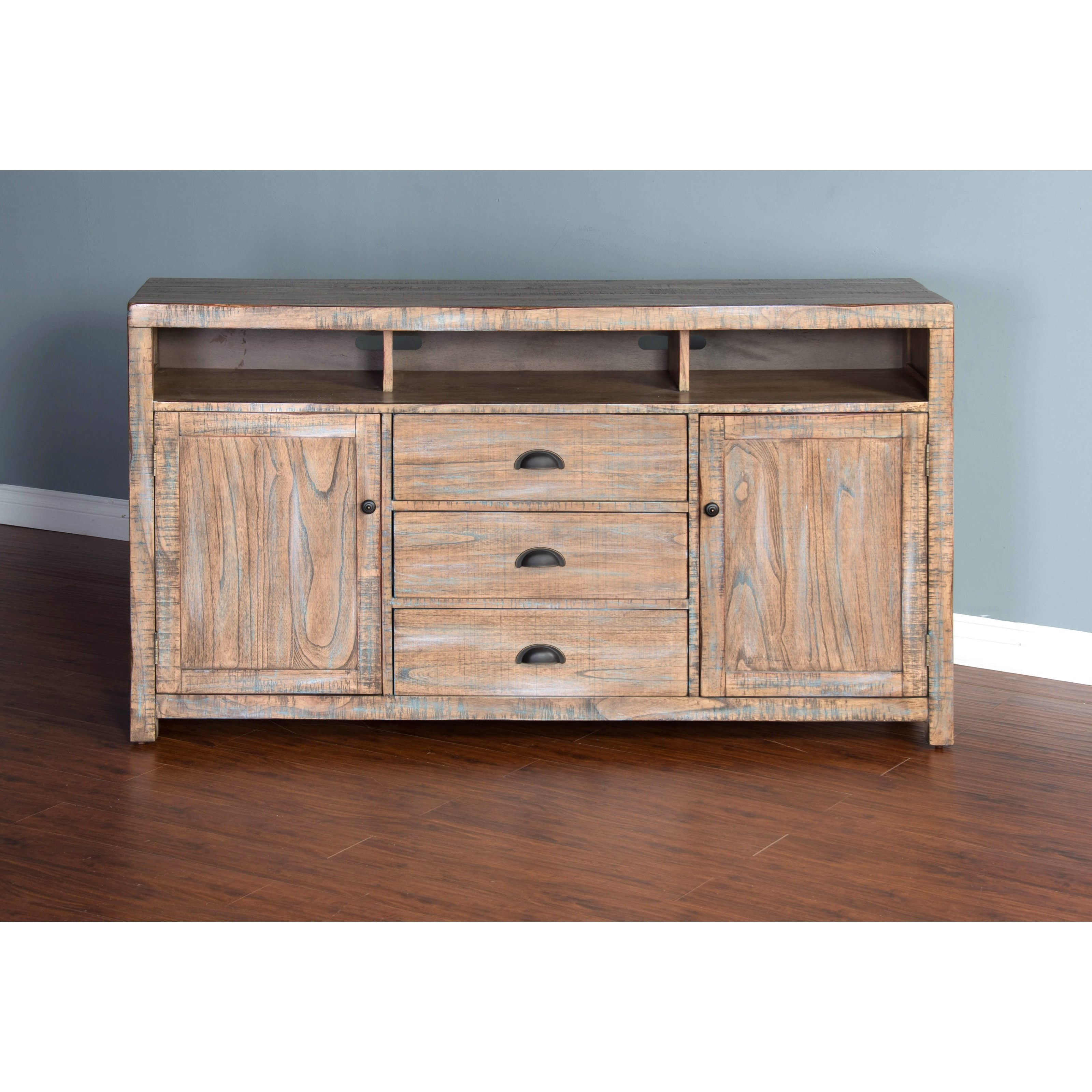 "3563 66"" TV Console by Sunny Designs at Factory Direct Furniture"