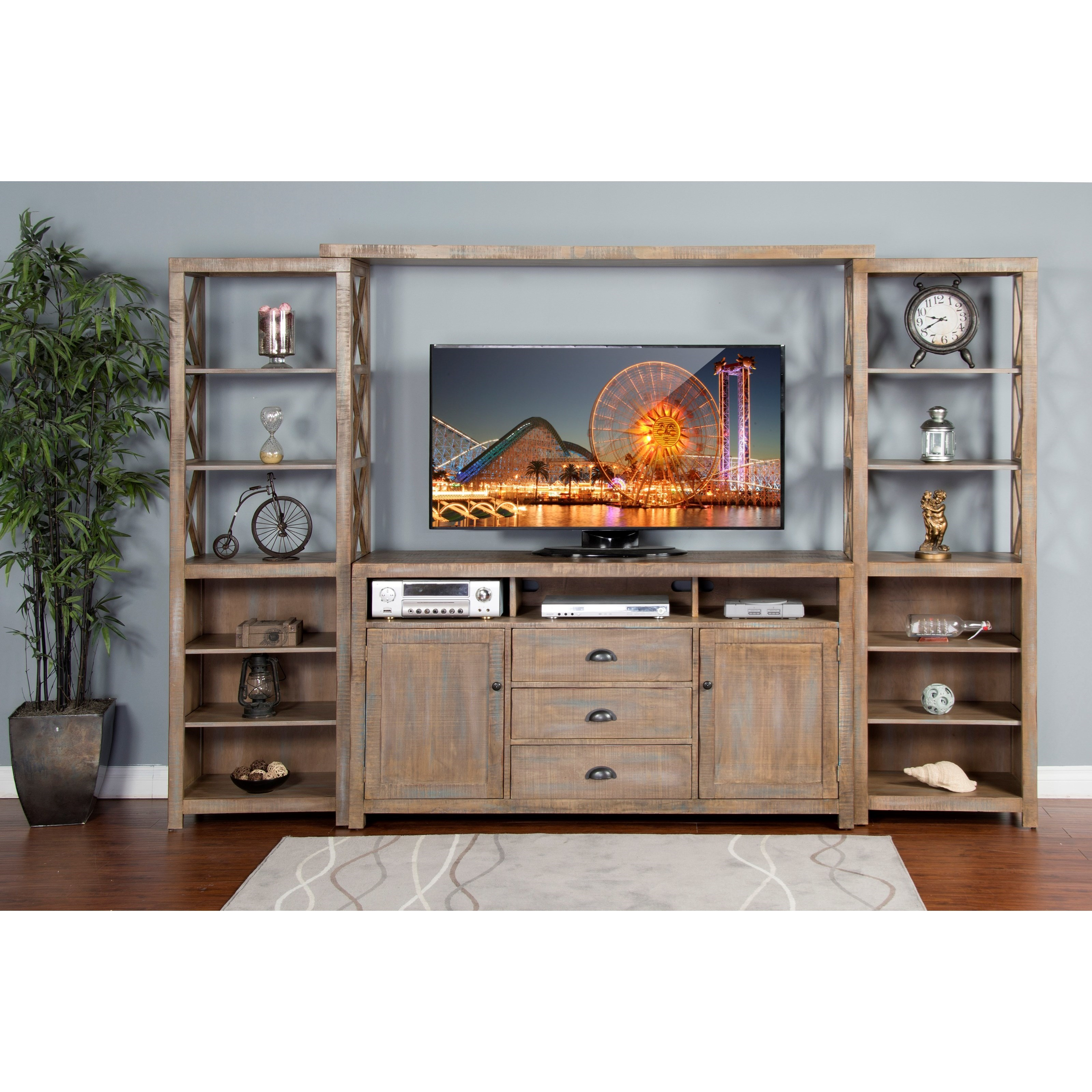 "Sunny Designs 3563 66"" Entertainment Wall - Item Number: 3563WB"