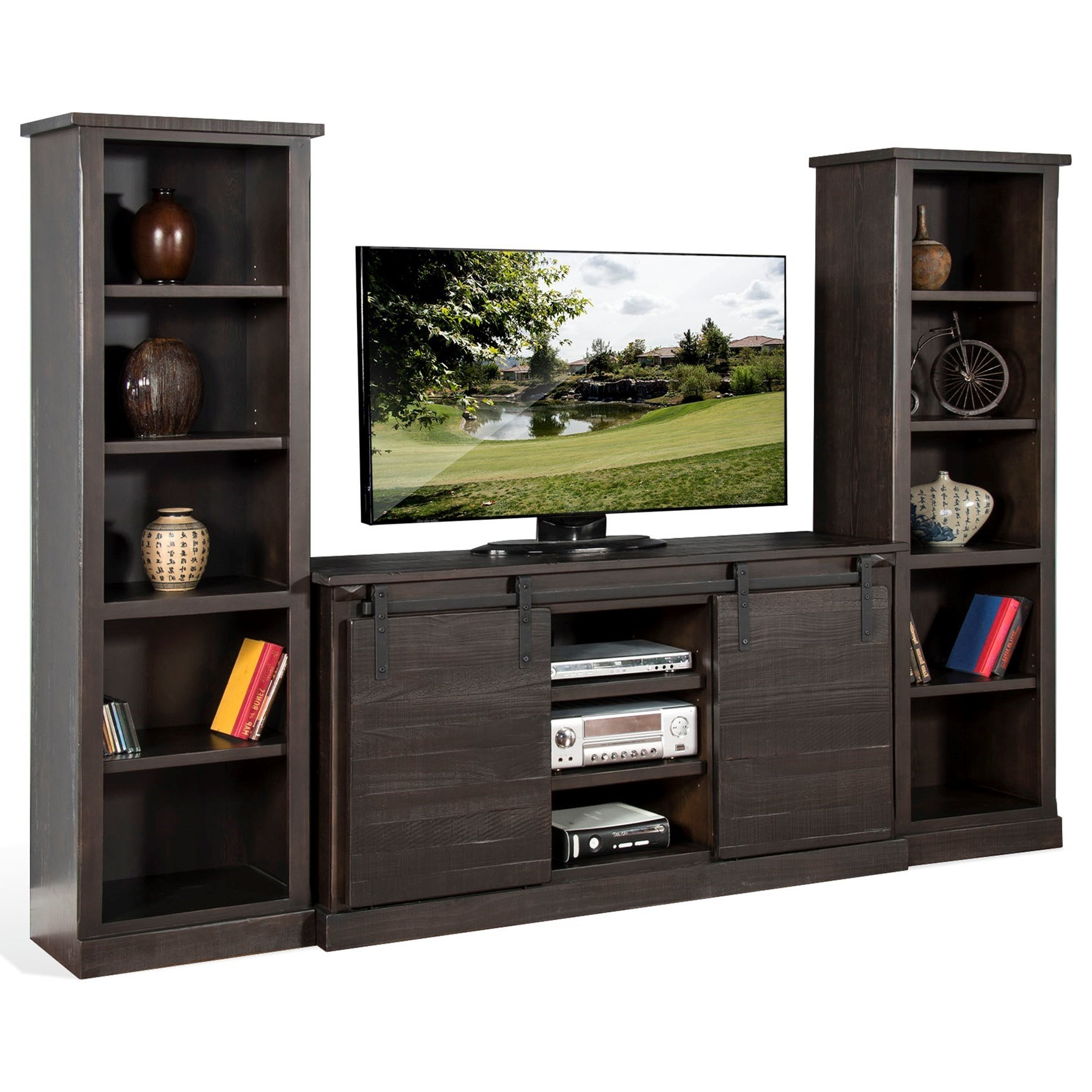 3577 Entertainment Wall Unit by Sunny Designs at Powell's Furniture and Mattress