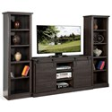 Sunny Designs 3577 Entertainment Wall Unit - Item Number: 3577CO2+2x3577CO2-P