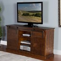 "Sunny Designs 3577 65"" TV Console w/ Barn Doors - Item Number: 3577DC"