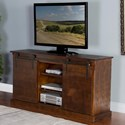 "Sunny Designs 3577 65"" TV Console w/ Barn Doors - Item Number: 3577DC2"