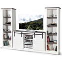 Sunny Designs 3577 Entertainment Wall Unit - Item Number: 3577EC-2+2x3577EC2-P