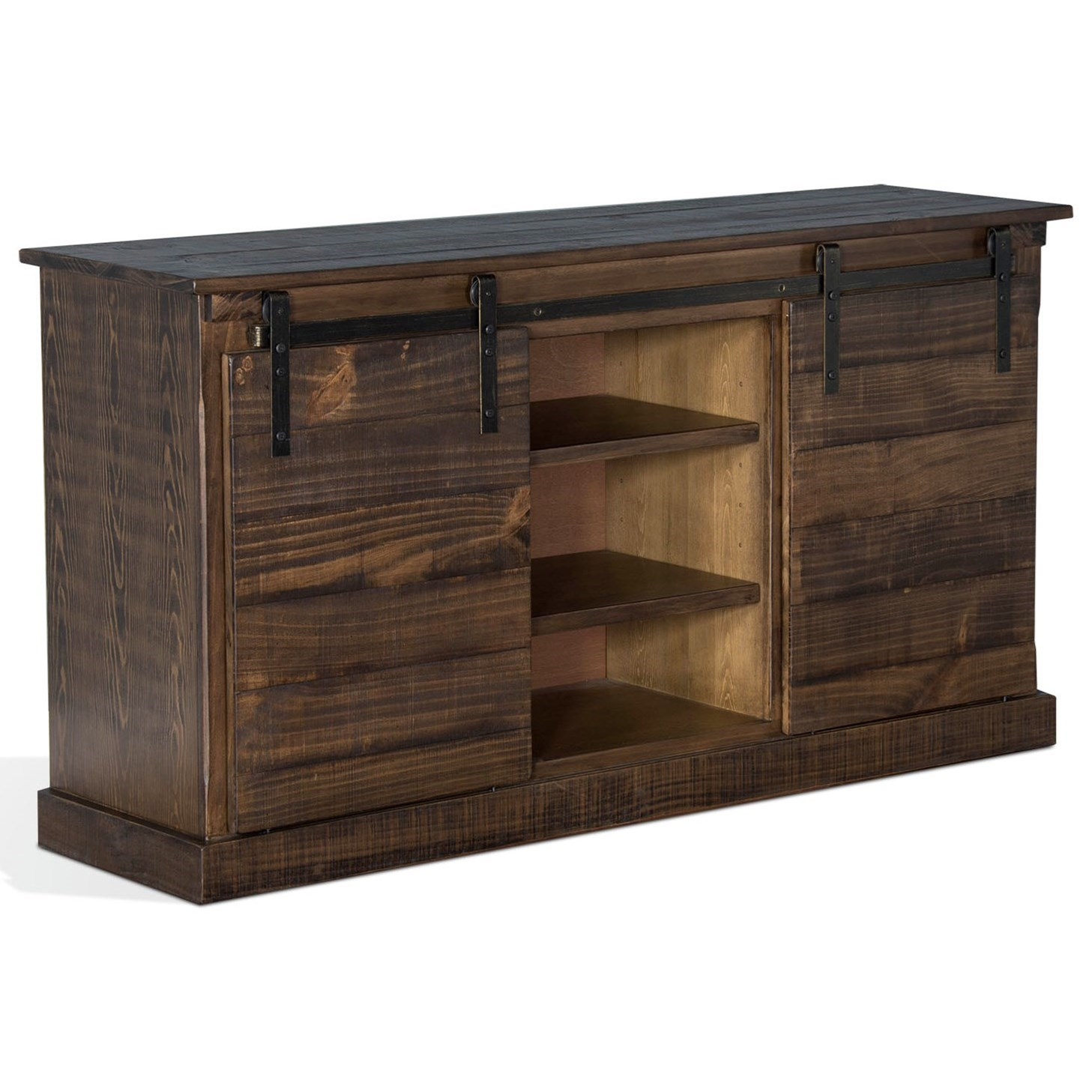 "Sunny Designs 3577 65"" TV Console w/ Barn Doors - Item Number: 3577TL"