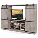 Sunny Designs 3579 Barn Door Entertainment Wall - Item Number: 3579MS-2
