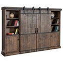 Sunny Designs 3579 Rustic Barn Door Entertainment Wall