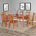 Sunny Designs American Modern 7 Piece Table and Chair Set - Item Number: 1089CN+3x1688CN