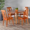 Sunny Designs American Modern Dining Table Set with 4 Chairs - Item Number: 1098CN+4x1688