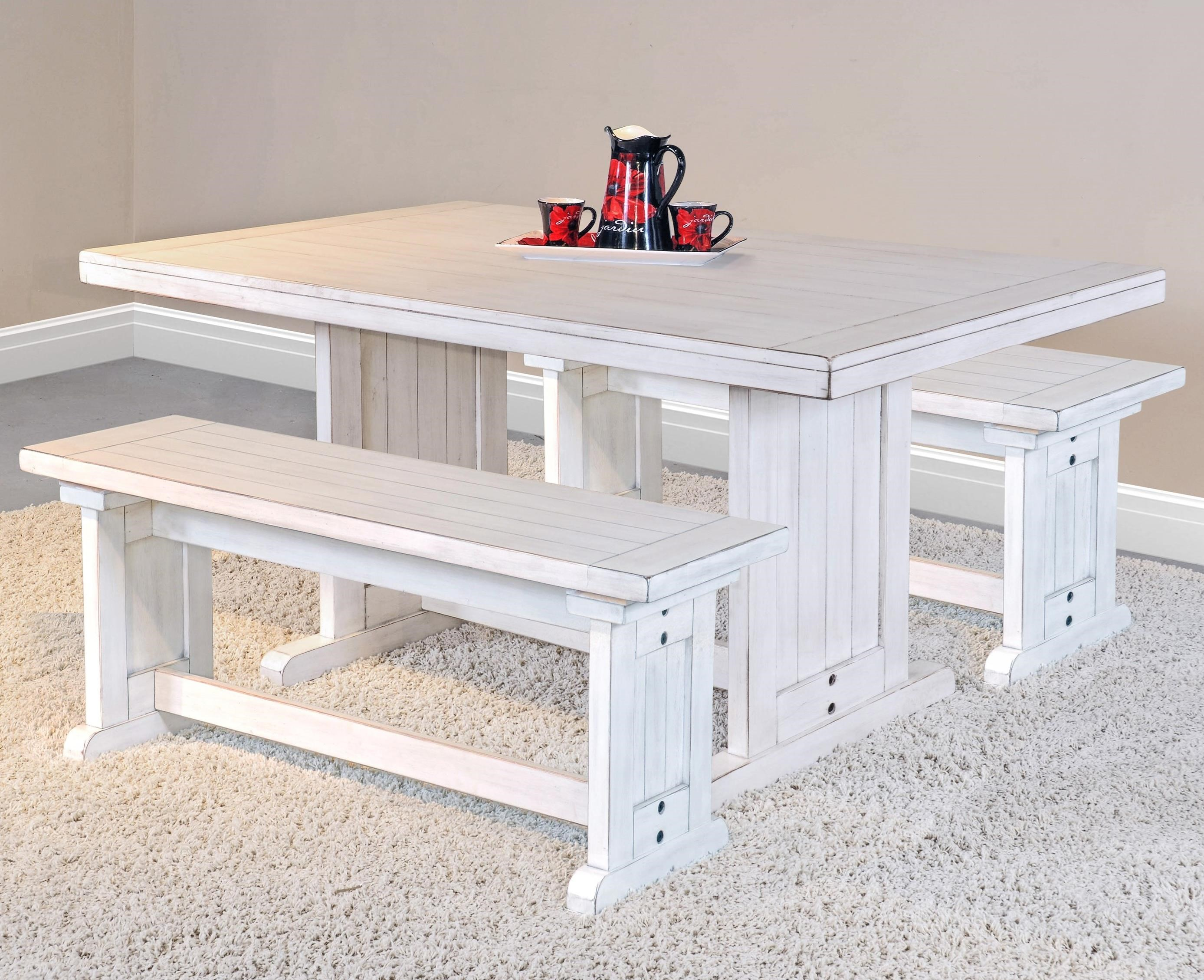 Bayside Table with 2 Benches by Sunny Designs at Sparks HomeStore