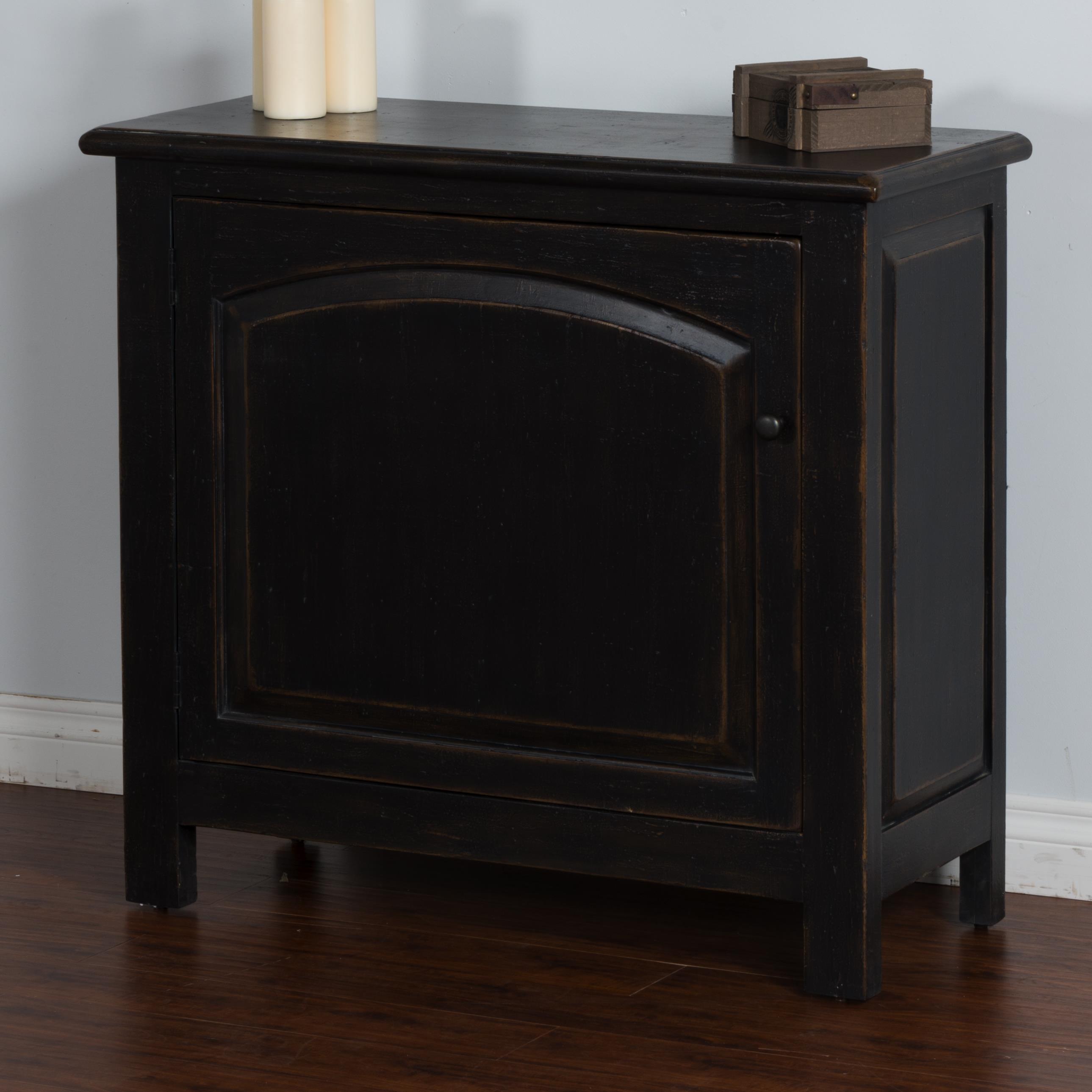Sunny Designs Black Accent Chest w/ Arch Door - Item Number: 2271B