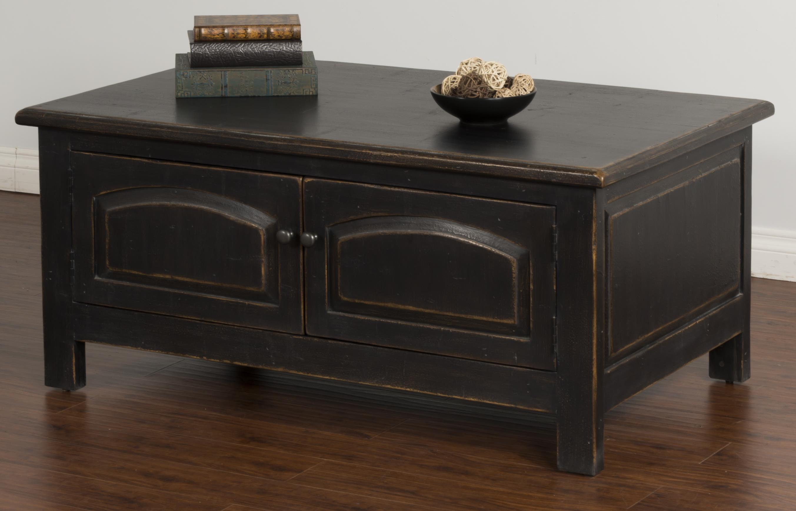 Sunny Designs Black Coffee Table w/ Storage - Item Number: 2271B-C