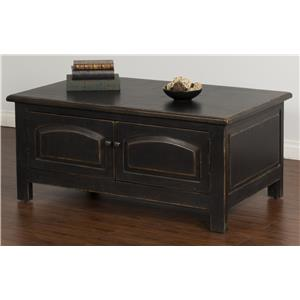 Sunny Designs Black Coffee Table w/ Storage
