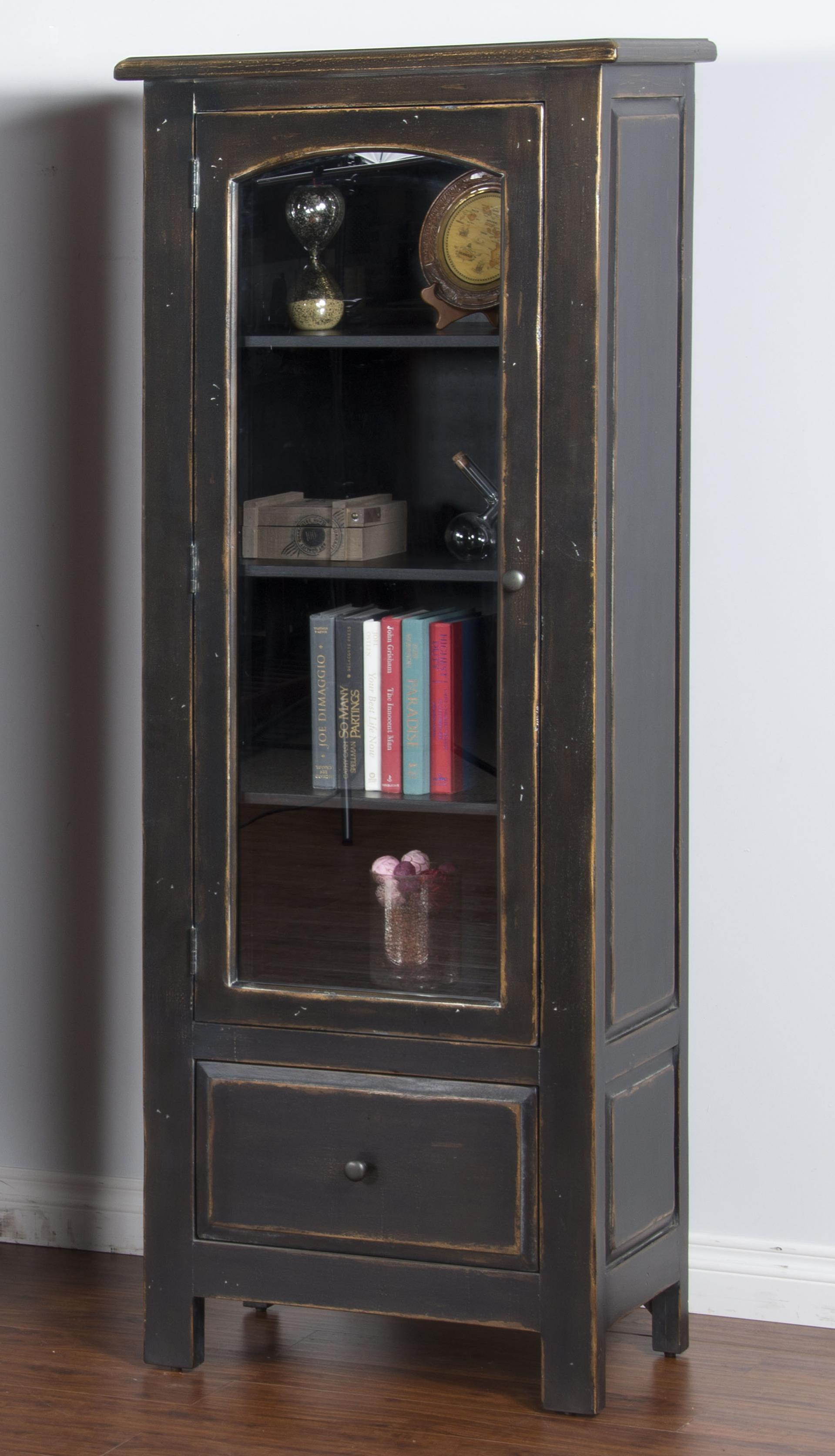 Sunny Designs Black Display Cabinet - Item Number: 2271B-DC