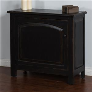 Sunny Designs Black Accent Chest w/ Arch Door