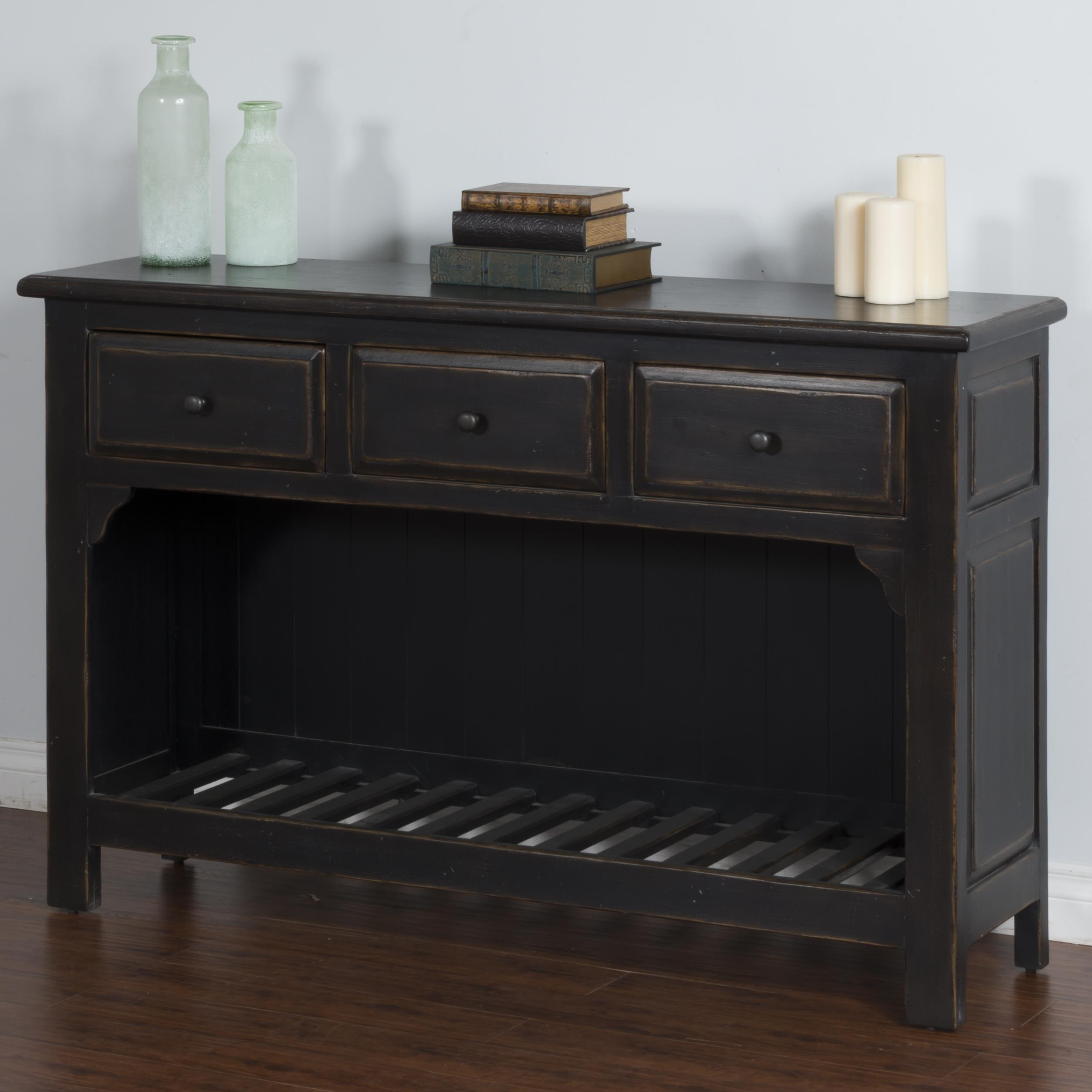 Sunny Designs Black Sofa Table - Item Number: 2271B-S