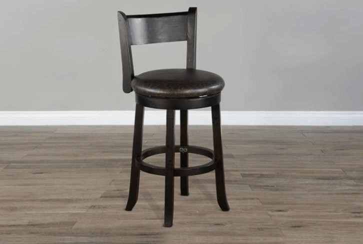 Black Walnut Bar Stool at Bennett's Furniture and Mattresses