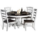 Sunny Designs Bourbon County Five Piece Chair & Table Set - Item Number: 1014FC+4x1432FC-W
