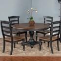 Sunny Designs Bourbon Trail Five Piece Chair & Table Set - Item Number: 1014PJ+4x1432PJ-W