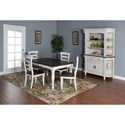 Sunny Designs Bourbon Country 5-Piece Extension Dining Table Set with Ladderback Chairs