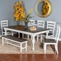 Sunny Designs Bourbon County Seven Piece Dining Set - Item Number: 1015FC+5x1432FC-W+1642FC