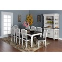 Sunny Designs Bourbon Country Extension Dining Table with Self-Storing Leaf