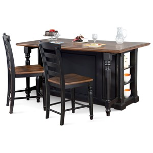 Three Piece Kitchen Island Set
