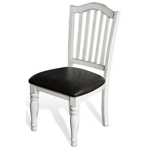 Sunny Designs Bourbon Country Slatback Chair w/ Cushion Seat