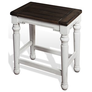 Sunny Designs Bourbon County Backless Stool w/ Wood Seat