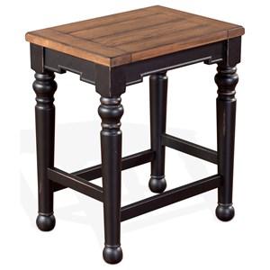 VFM Signature Bourbon Trail Backless Stool w/ Wood Seat