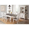 Sunny Designs Bourbon County Formal Dining Room Group - Item Number: FC Dining Room Group 12